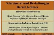 Schreinerei Bernd KrÑmer