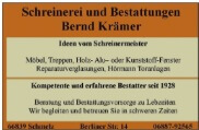 Schreinerei Bernd Krämer